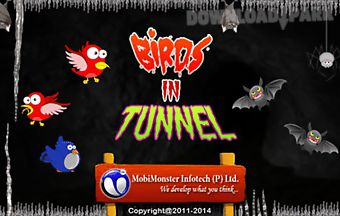 Birds in tunnel - flapping