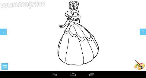 coloring princess game