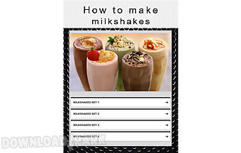 How to make milkshakes