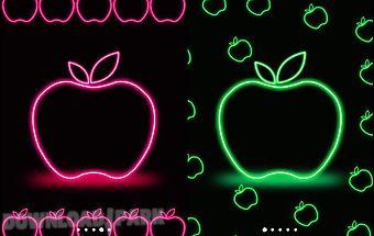 Apple neon wallpaper - free