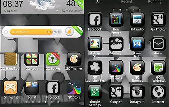 Black theme go launcher