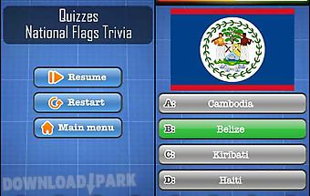 National flags trivia free