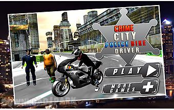 Crime city police bike driver