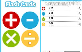 Math practice flash cards