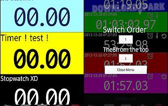 Multi stopwatch & timerfree