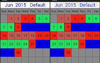 My shift calendar
