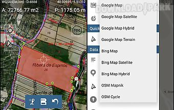 Map pad gps surveys & measure