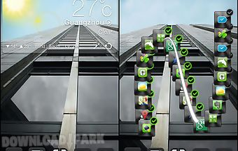 Next launcher 3d theme dark