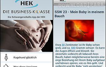 Schwangerschafts-app der hek