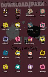 sweet kitty atom theme