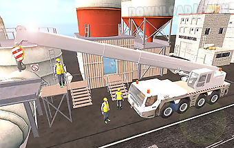 Construction crane driver