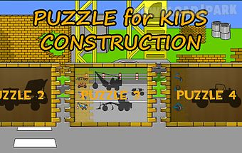 Kids puzzle - construction