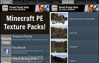 Texture packs for minecraft pe Android App free download in Apk