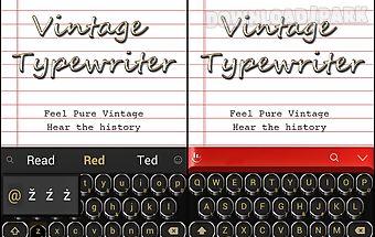 Vintage typewriter theme