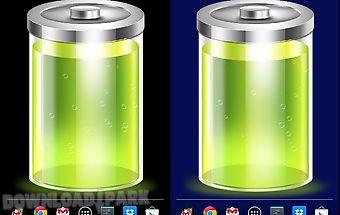 Battery wallpaper and widget