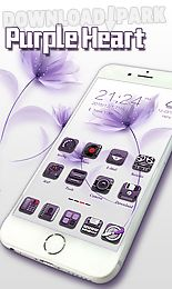 purple heart go launcher theme