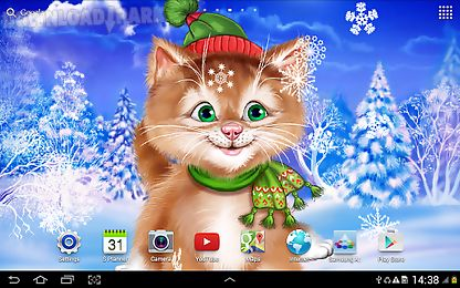 winter cat live wallpaper android animiert hintergrundbild kostenlose herunterladen in apk. Black Bedroom Furniture Sets. Home Design Ideas