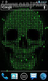 digital skull live wallpaper