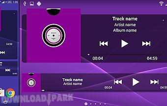 Music widget for walkman™