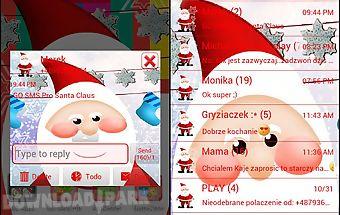 Santa claus theme for go sms