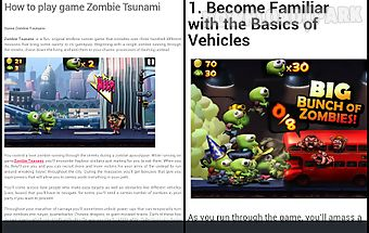 Guide for zombie tsunami