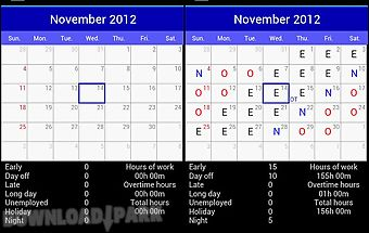 Shift work schedule Android App free download in Apk
