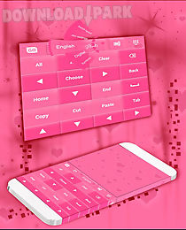 pink keyboard hearts go