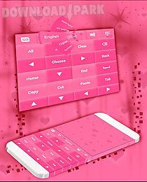 pink keyboard hearts go