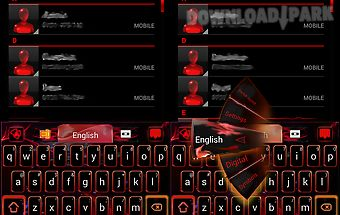 Red flame go keyboard theme