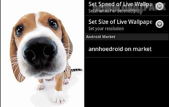 Cute Dog Sniffs Live Wallpaper