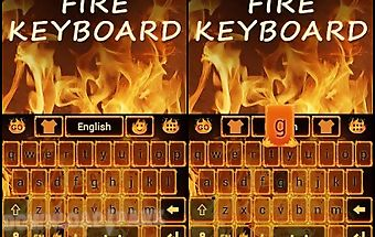 Fire go keyboard theme & emoji