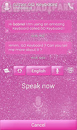 glitter go keyboard theme