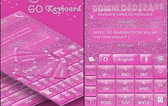 Glitter go keyboard theme