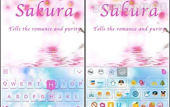 Sakura theme for kika keyboard