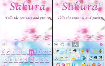 Sakura theme for kika keyboard
