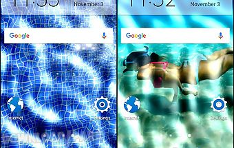 Underwater phone screen effect