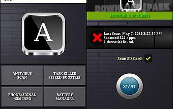 Antivirus security and signal bo..