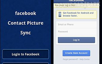 Facebook contact pic sync