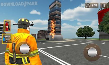 firefighter 3d: the city hero