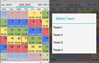 Shift schedule -График Р�..