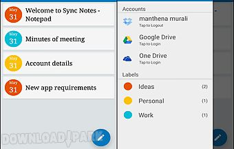Sync notes - cloud notepad