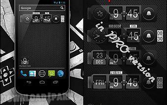 Alarm clock. widget. digital.