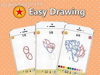 how to draw dbz super saiyan