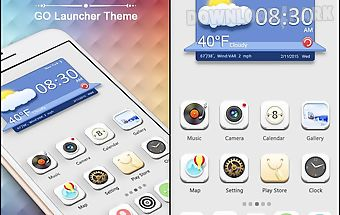 Pure white go launcher theme