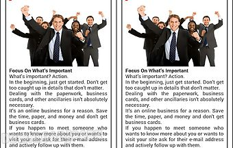 Business start up advices