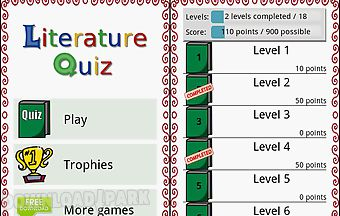 Literature quiz game