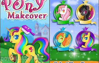 Little pony makeover kids game