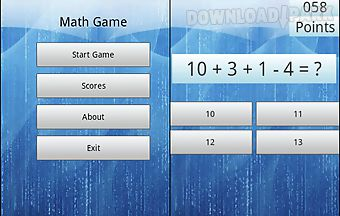 Math brain game pro