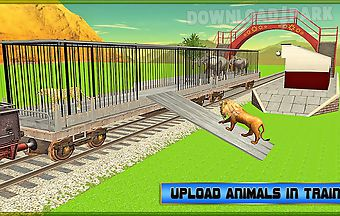 Train transport: zoo animals