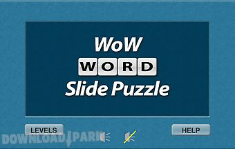 Wow word slide puzzle free